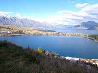 Lake Wakatipu and Queenstown from Skipper's Canyon area