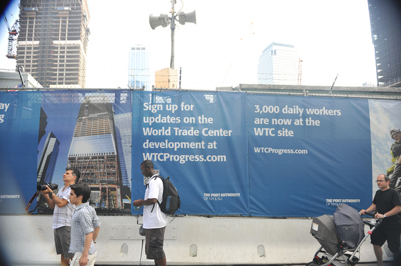 Sign on Fence, World Trade Center Site