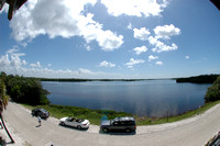 View from the observation tower along Wildlife Drive