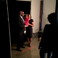 Atlanta Mayor Kasim Reed and his family pose for their portrait