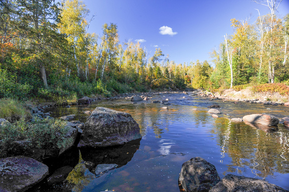Peaceful Autumn Day on the River, North Shore, Lake Superior, MN, 2010